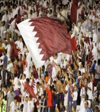 Qatari fans during a 2014 World Cup Qualifier against Vietnam. Photo by: Vinod Divakaran via Flickr Creative Commons