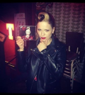 Imelda holding new album 'Tribal' Photo via Imelda May official Twitter