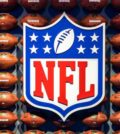NFL logo surrounded by balls